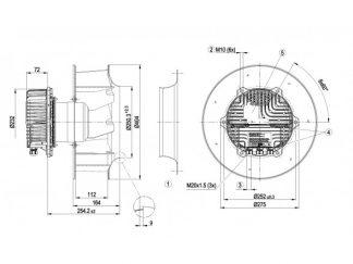 Вентилятор R3G355BC9205  R3G355-BC92-05