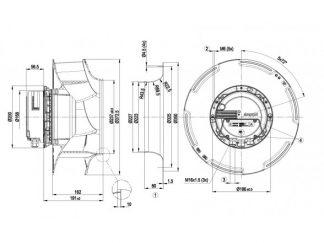 Вентилятор R3G355RG5601  R3G355-RG56-01