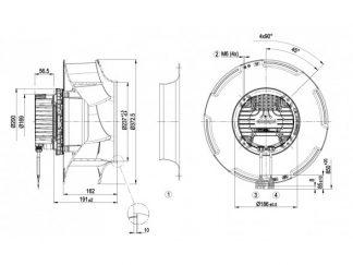 Центробежный вентилятор R3G355RJ7501 R3G355-RJ75-01