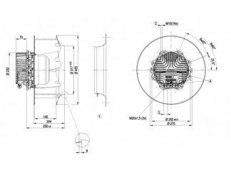 Вентилятор R3G450AS2401  R3G450-AS24-01