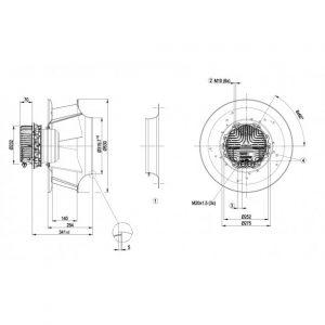 Вентилятор R3G450PA2371  R3G450-PA23-71