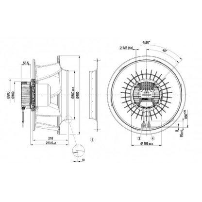 Вентилятор R3G450RK5601  R3G450-RK56-01