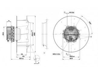 Центробежный вентилятор R3G500AP2401 R3G500-AP24-01