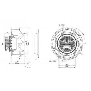 Центробежный вентилятор R3G500RA2501 R3G500-RA25-01