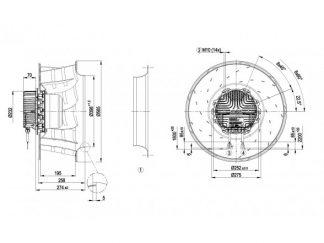 Центробежный вентилятор R3G560AG2107 R3G560-AG21-07