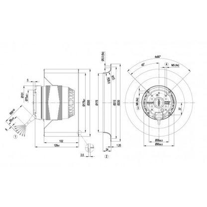 Центробежный вентилятор R4D200AL1205 R4D200-AL12-05