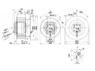 Центробежный вентилятор R4D280CI0301 R4D280-CI03-01