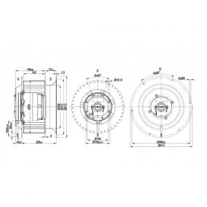 Вентилятор R4D355CM1501  R4D355-CM15-01