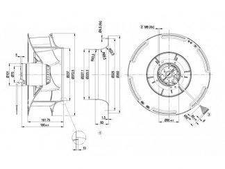 Центробежный вентилятор R4D355RB1001 R4D355-RB10-01