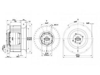 Центробежный вентилятор R4D400CO0101 R4D400-CO01-01