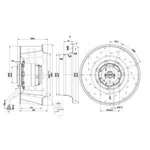 Вентилятор R4D500AQ0501  R4D500-AQ05-01