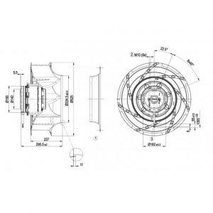 Центробежный вентилятор R4D500RA0301 R4D500-RA03-01