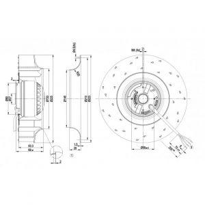Вентилятор R4E225AI0110  R4E225-AI01-10