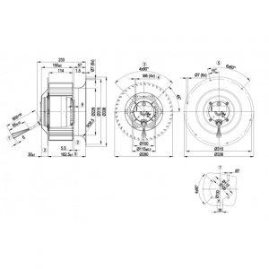 Центробежный вентилятор R4E280CI0101 R4E280-CI01-01