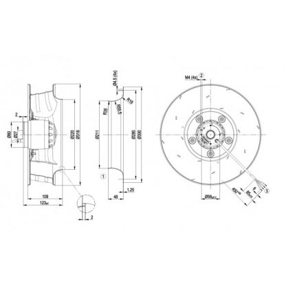 Вентилятор R4E310AR0601  R4E310-AR06-01