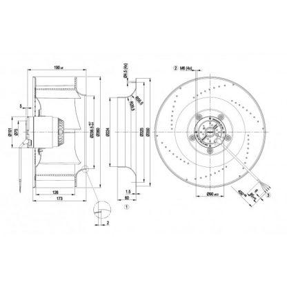 Вентилятор R4E355AG0105  R4E355-AG01-05