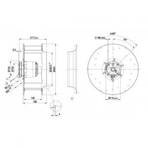Центробежный вентилятор R4E400AN0906 R4E400-AN09-06