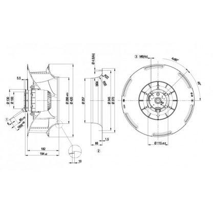 Вентилятор R4E400RO0905  R4E400-RO09-05