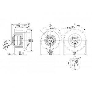Центробежный вентилятор R6D310CG0301 R6D310-CG03-01