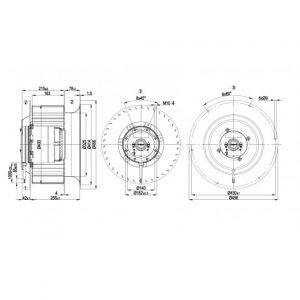 Центробежный вентилятор R6D400CM0501 R6D400-CM05-01