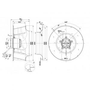 Центробежный вентилятор R6E355AE1605 R6E355-AE16-05