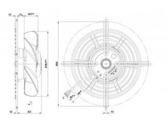 Вентилятор S2D170BA0406  S2D170-BA04-06