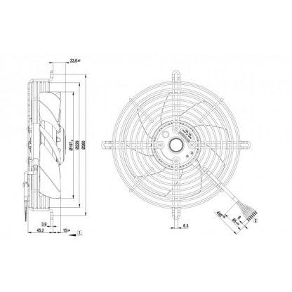 Вентилятор S2D200AH1801  S2D200-AH18-01