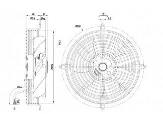 Вентилятор S2D200AI1801  S2D200-AI18-01