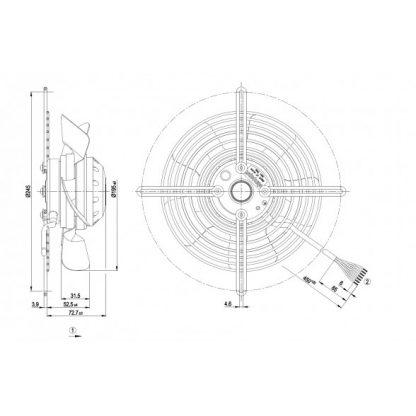 Осевой вентилятор S2D200BA0202 S2D200-BA02-02