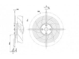 Осевой вентилятор S2D200BH1801 S2D200-BH18-01