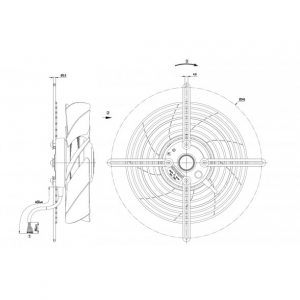 Осевой вентилятор S2D200BI1801 S2D200-BI18-01