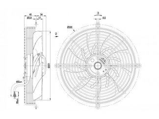 Осевой вентилятор S2D250AI0201 S2D250-AI02-01