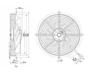 Вентилятор S2D250AI0215  S2D250-AI02-15