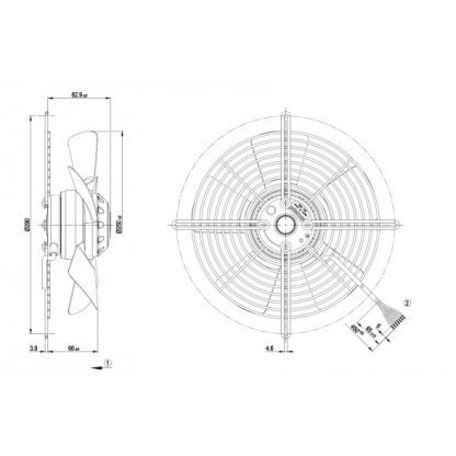 Осевой вентилятор S2D250BA0201 S2D250-BA02-01