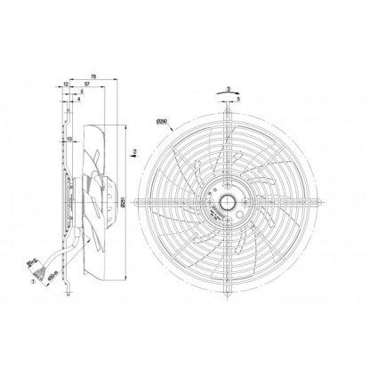 Осевой вентилятор S2D250BH0201 S2D250-BH02-01