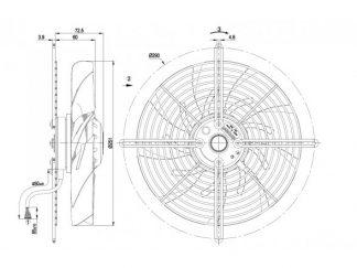 Осевой вентилятор S2D250BI0201 S2D250-BI02-01