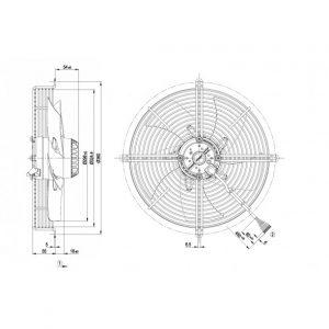 Осевой вентилятор S2D300AP0231 S2D300-AP02-31