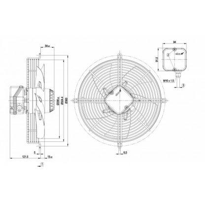 Осевой вентилятор S2D300AP0250 S2D300-AP02-50
