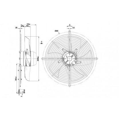 Осевой вентилятор S2D300BP0231 S2D300-BP02-31