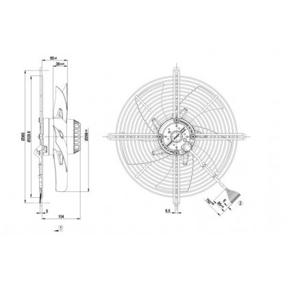 Осевой вентилятор S2D300BP0237 S2D300-BP02-37