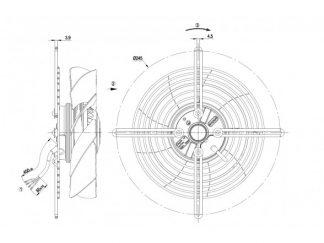 Вентилятор S2E200BI3801  S2E200-BI38-01
