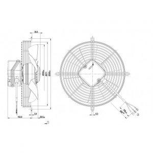 Вентилятор S2E250AF0612  S2E250-AF06-12