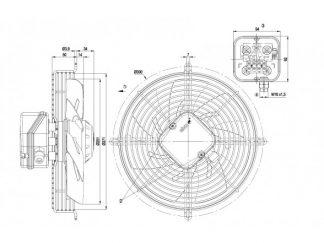 Осевой вентилятор S2E250AL0611 S2E250-AL06-11