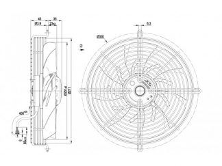 Осевой вентилятор S2E250AM0601 S2E250-AM06-01