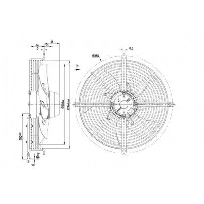 Осевой вентилятор S2E300AP0231 S2E300-AP02-31