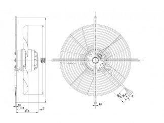 Вентилятор S2E300BA0109  S2E300-BA01-09