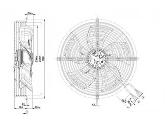 Осевой вентилятор S3G300AK1332 S3G300-AK13-32