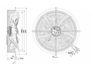 Осевой вентилятор S3G350AG0332 S3G350-AG03-32