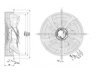 Осевой вентилятор S3G350AN0132 S3G350-AN01-32