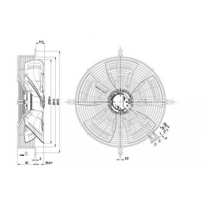 Осевой вентилятор S3G400AN0432 S3G400-AN04-32